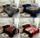 Heavy Crafted Floral Thick Winter Soft Mink King Size Blanket 10 lbs image