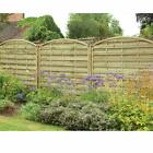 Forest Garden 1.8m X 1.8m Pressure Treated Decorative Europa Domed Fence Panels