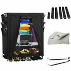 69'' Clothes Wardrobe Portable Clothing Storage Cabinet Dust-proof Closet Hanger