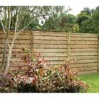 Forest Garden 1.8m X 1.5m Pressure Treated Decorative Europa Plain Fence Panel
