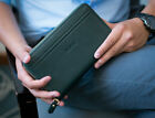Genuine Leather Zipper Clutch Hand Bag Large Wallet Leather Pouch Mens Bag
