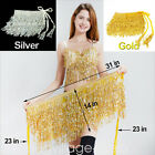 Kyпить Sequins Belly Dance Top Costume Tassel Fringe Hip Scarf Belt Waist Wrap Skirt US на еВаy.соm