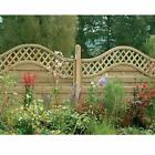 Forest Garden 1.8m X 1.5m Pressure Treated Decorative Europa Prague Fence Panel