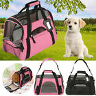 Large Folding Small Pet Dog Carrier Mesh Fabric Canvas Grid Travel Bag Crate Car