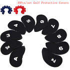 10pcs Neoprene Golf Club Putter Head Cover Wedge Iron Protective Headcovers PVBB