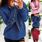 Women Casual Long Sleeve Sweatshirt Solid Loose Pullovers Plus Size Tops Hoodies