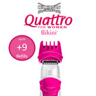 Wilkinson Sword Quattro For Women Bikini Trimmer With Leg Shaving Razor