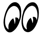 Moon Eye Decal Sticker On White Background, 2 Layers Of Vinyl  For Cars, Walls,