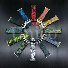 38/40/42/44 MM Apple Rubber Camo Camouflage Watch Band Strap Iwatch Colorful New