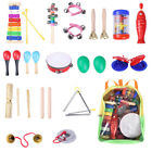 24PCS Children Baby Wooden Percussion Instruments Promote Early Education Toy US