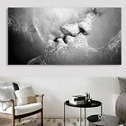 Black & White Abstract Art Love Kiss Canvas Painting Print Poster Picture Decor