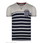 Rock & Revival Short-Sleeve Crew Neck Stripe Tee Speckled Aztec Detail R707045C