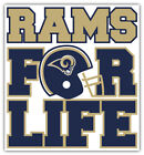 """Los Angeles Rams For Life NFL Sport Car Bumper Sticker Decal """"SIZES'' $4.5 USD on eBay"""