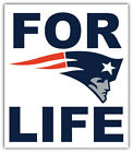 """New England Patriots For Life NFL Sport Car Bumper Sticker Decal """"SIZES'' $4.5 USD on eBay"""