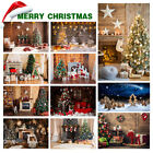 Merry Christmas Photography Background Backdrop Photo Xmas Forest Snow Props