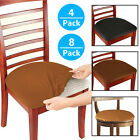 Kyпить Set of 4/8 Stretch Removable Washable Dining Room Chair Seat Cover Slipcover на еВаy.соm