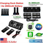 Charger Charging Dock Station  2800mAh Battery For Wii /Wii U Remote Controller