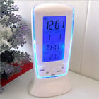 USB Digital LED Desk Alarm Clock with Thermometer Wireless Charger FOR PHONE US