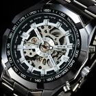 New-Automatic-Skeleton-Silver-Stainless-Steel-Mechanical-Sport-Mens-Wrist-Watch