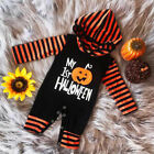 Toddler Baby Boy My 1st Halloween Hooded Romper Bodysuit Jumpsuit Clothes Outfit