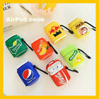 Soft Drink Can AirPods Case Apple Earphone Protector Cover & Keychain Shockproof $9.92  on eBay