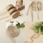 10m Hessian Jute Burlap Ribbon Table Runner Crafts Chair Bow Wedding Accessories