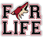 "Arizona Coyotes For Life NHL Sport Car Bumper Sticker Decal ""SIZES'' $3.75 USD on eBay"