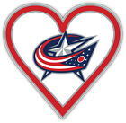 "Columbus Blue Jackets Heart NHL Sport Car Bumper Sticker Decal ""SIZES"" $3.75 USD on eBay"