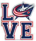 "Columbus Blue Jackets Love NHL Sport Car Bumper Sticker Decal ""SIZES'' $3.75 USD on eBay"