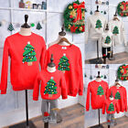 Family Matching Adult Kid Xmas Christmas Jumper Sweater Retro Vintage Pullover