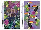 2020 Diary Slim Week to View Hard Backed Handbag Diary with Pen Tropical Designs