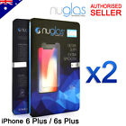 2x NUGLAS Tempered Glass Screen Protector For iPhone XS Max XR X 8