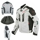 Textile Motorcycle Jacket Sport Ce Protectors Reflective Airy Grey