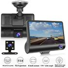 1SET Car DVR 3 Cameras Lens 4.0 Inch Wide Angle Car Dash Data Driving Recorder