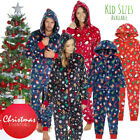 Matching Family Christmas 1Onesie Fleece All in One Pyjamas Xmas Outfits UK