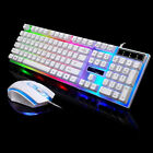 Backlit Computer Desktop Gaming Keyboard + Mouse Mechanical Feel Led Light G21