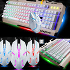Computer Gaming RGB Keyboard And Mouse Backlit Mechanical Feeling Keyboard Led