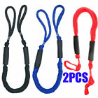 2PCS 3.5-5.5 ft Bungee Dock Line Mooring Stretch Rope For Boat Blue