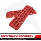 2Pcs Tracks Recovery Traction Mats Anti-Slip for Sand Snow Tire Ladder Offroad