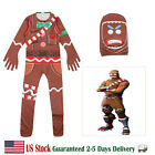 Gingerbread Man Costume Fortnite Halloween Cosplay for Boys