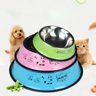 Stainless Steel Dog Pet Feeding Water Bowl Attractive Dog & Bone Design 3 color