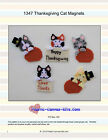 Thanksgiving Cat Magnets-Plastic Canvas Pattern or Kit