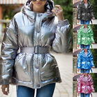 Winter Coats for Girls Parka Long Padded Bubble Jacket Belted Fashion Outwear