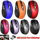 2.4GHz Wireless Optical Mouse Mice  USB Receiver For PC Laptop Computer DPI USA