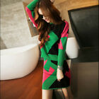 new spring autumn occident fashion geometric knitting two-piece one-step skirt