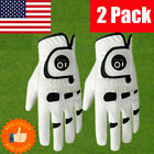 Mens Golf Gloves Left Right Hand 2 Pack With Ball Marker Value All Weather Grip