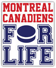 "Montreal Canadiens For Life NHL Sport Car Bumper Sticker Decal  ""SIZES'' $3.75 USD on eBay"