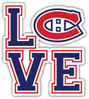 "Montreal Canadiens Love NHL Sport Car Bumper Sticker Decal ""SIZES"" $3.75 USD on eBay"