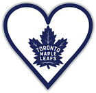 "Toronto Maple Leafs Heart NHL Sport Car Bumper Sticker Decal ""SIZES"" $4.25 USD on eBay"