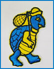 """Iron-on Turtle Hobo Patches in BLUE GREEN RED and PURPLE Turtle Patch 3 x 1.5"""""""